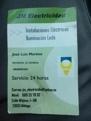 Perfil profesional de jm electricidad soitupr - Trabajo electricista malaga ...